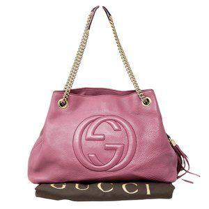 Gucci Soho on Chain Medium Leather Shoulder Bag